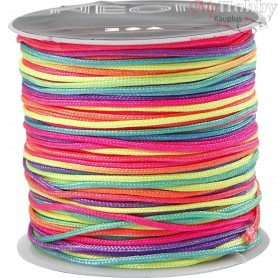 Nylon cord, thickness 1 mm, neon multi, 28m
