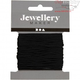 Polyester Cord, thickness 1 mm, black, 10m