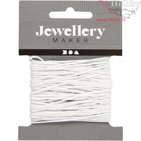 Polyester Cord, thickness 1 mm, white, 10m