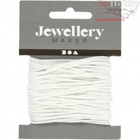 Polyester Cord, thickness 2 mm, white, 8m