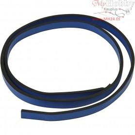 Faux Leather Belt, W: 10 mm, thickness 3 mm, blue, 1m