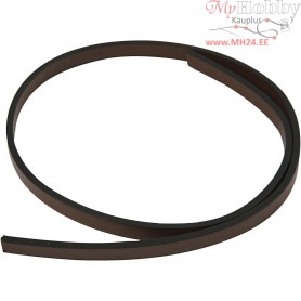 Faux Leather Belt, W: 10 mm, thickness 3 mm, brown, 1m