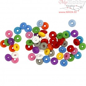 Stop Rings, inner size 3 mm, asstd colours, 48mixed