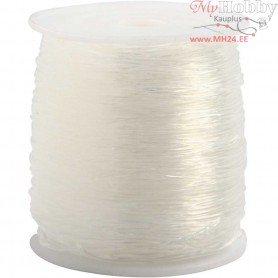 Elastic Beading Cord, thickness 0,8 mm, round, 100m