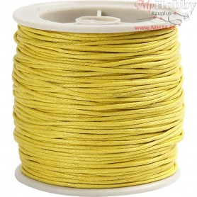 Cotton Cord, thickness 1 mm, yellow, 40m