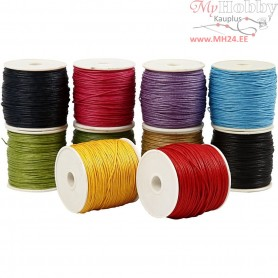 Cotton Cord, thickness 1 mm, bold colours, 10x50m