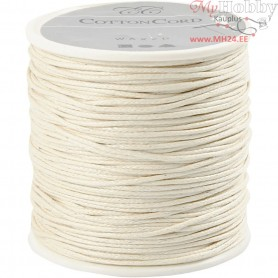 Cotton Cord, thickness 1 mm, off-white, 40m