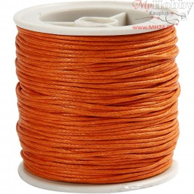 Cotton Cord,  1 mm, orange, 40m