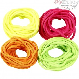 Polyester Cord, thickness 4 mm, neon colours, 4x5m