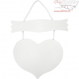 Heart and sign, size 28x19 cm, thickness 5 mm, MDF, 1pc
