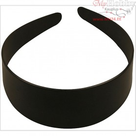Hair Band, W: 48 mm, black, 1pc
