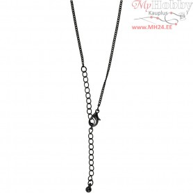 Chain, L: 80 cm, D: 1 mm, black, 1pc