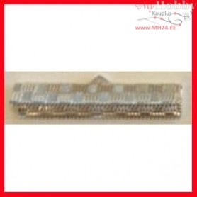 Fold-Over Ends, W: 34 mm, H: 6 mm, silver-plated, 30pcs