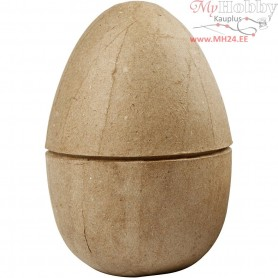 Two-piece Egg, H: 12 cm, D: 9 cm, 1pc