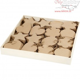 Ornaments, size 10 cm, thickness 2,5 mm, MDF, 160pcs