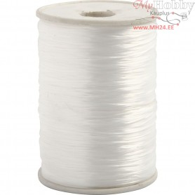 Elastic Beading Cord, thickness 1 mm, flat, 1000m