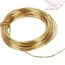 Brass Wire, thickness 1,2 mm,  100 g, brass, 10m