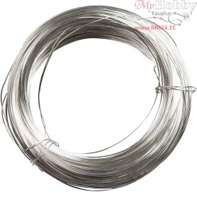 Silver-plated Wire, thickness 100 g, thickness 0,4 mm, silver-plated, 80m