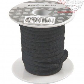 Polyester Cord, thickness 4 mm, black, 5m