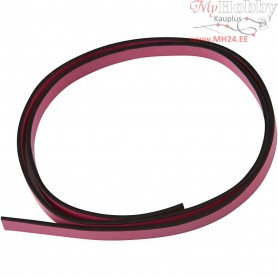 Faux Leather Belt, W: 10 mm, thickness 3 mm, pink, 1m