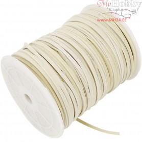 Faux suede cord,  3 mm, beige, 100m