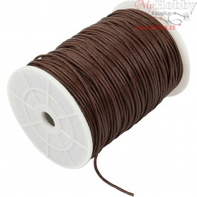 Cotton Cord, thickness 2 mm, brown, 100m