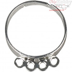 Finger Ring, silver-plated, 15pcs