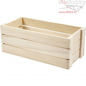Apple Box, size 34x15 cm, H: 13 cm, empress wood, 1pc