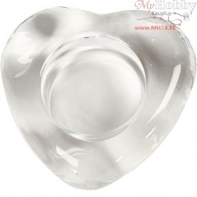 Candle Light Holder, heart, size 8x8 cm, thickness 25 mm, 1pc