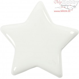 Star, size 7,5x7,5 cm, thickness 10 mm, white, 1pc