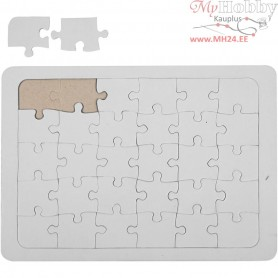 Jigsaw Puzzle, A5 15x21 cm, white, 1pc