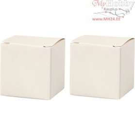 Folding box, size 5,5x5,5 cm,  120 g, off-white, 10pcs