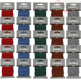 Polyester Cord, thickness 2 mm, asstd colours, 5x5packs