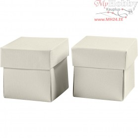 Folding box, size 5,5x5,5 cm,  250 g, off-white, 10pcs