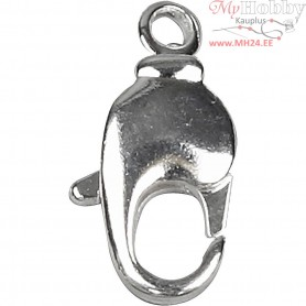Swivel Clasps, L: 17 mm, silver-plated, 5pcs