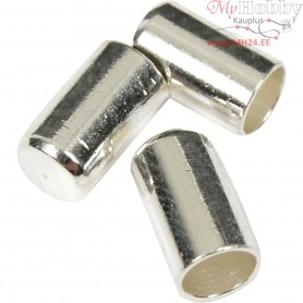 End Caps, D: 2,5 mm, silver-plated, 100pcs