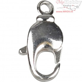 Swivel Clasps, size 17 mm, silver-plated, 40pcs