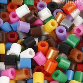 Fuse Beads with a Split, size 5x5 mm, hole size 2,5 mm, standard colours, medium, 6000mixed