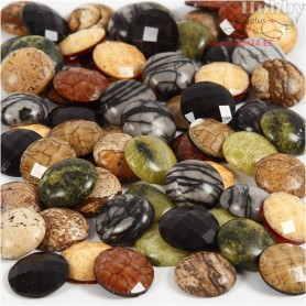 Cabochons , D: 14 mm, thickness 4 mm, 108pcs