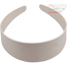 Hair Band, W: 48 mm, white, 20pcs