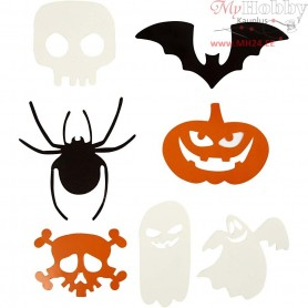 Halloween Motifs, size 5-10 cm,  180 g, 50ass.