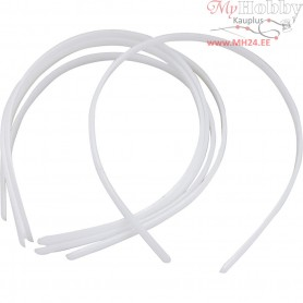 Hair Band, W: 7 mm, white, 20pcs