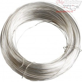 Silver-plated Wire,  100 g, thickness 0,6 mm, silver-plated, 40m