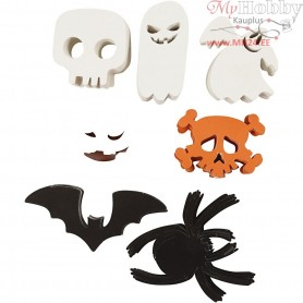 Halloween Motifs, size 5-10 cm,  180 g, 400ass.