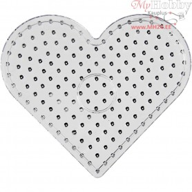 Peg Board, size 17x15,5 cm, transparent, JUMBO - heart, 5pcs