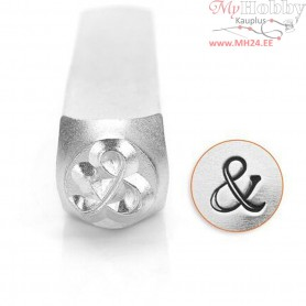 Embossing Stamp, size 6 mm, L: 65 mm, &, 1pc