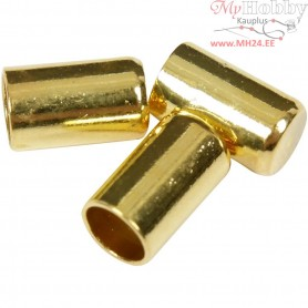 End Caps, D: 2,5 mm, gold-plated, 50pcs