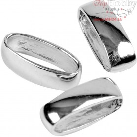 Oval Rings,  3,2 mm, W: 10 mm, sterling silver, 5pcs