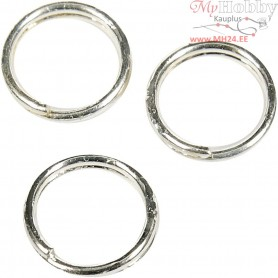 Split Ring, D: 5 mm, silver-plated, 300pcs