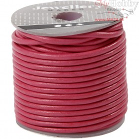 Leather Cord, thickness 2 mm, pink, 10m